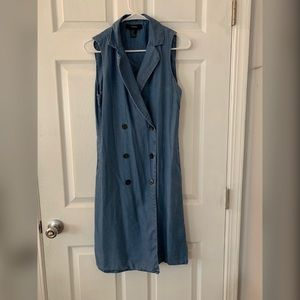 F21 - Denim Sleeveless Trench coat